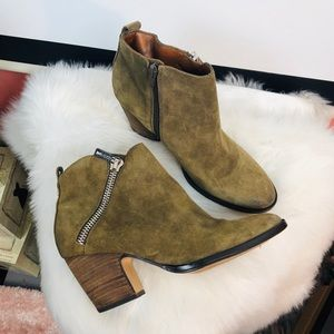 Ivanka Trump | suede ankle boots Sz 7.5M